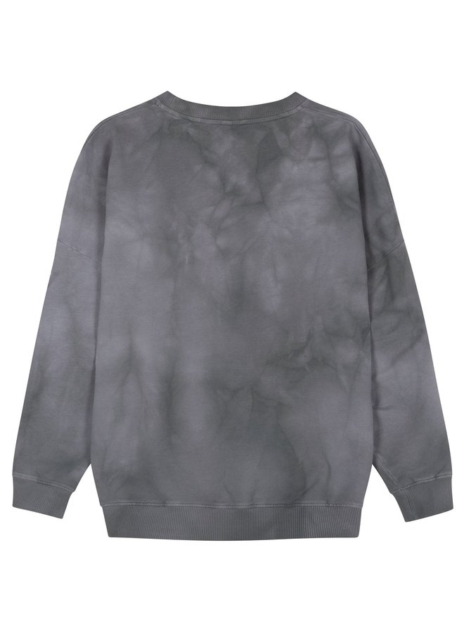 Trui oversized sweater tie dye grey