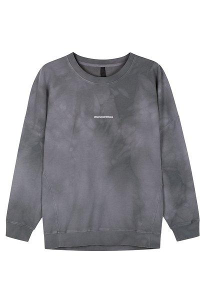 Trui oversized sweater tie dye grey