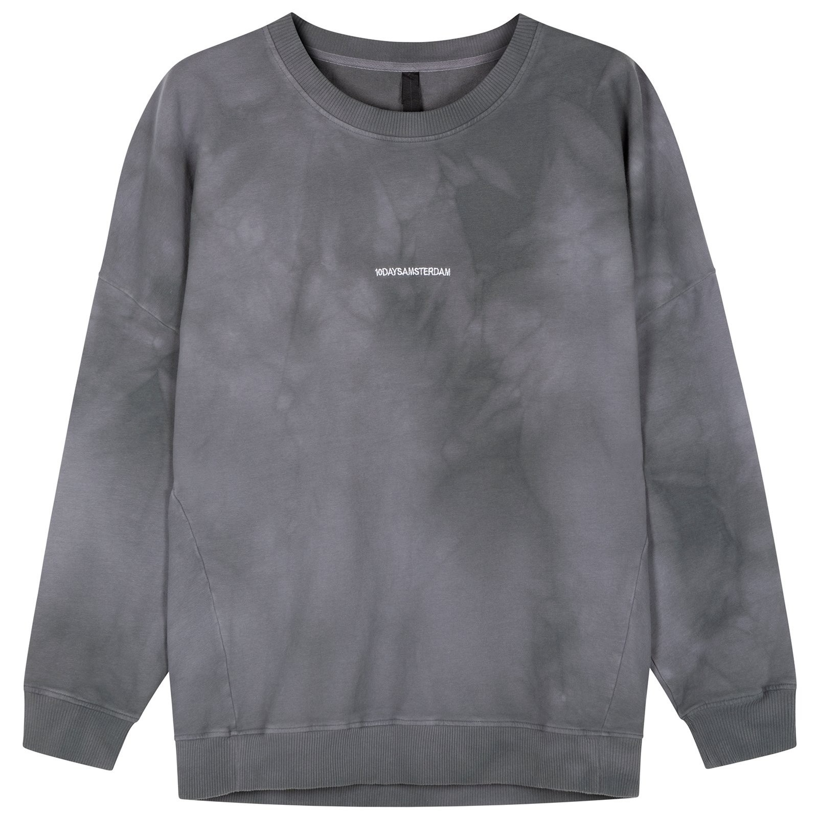 Trui oversized sweater tie dye grey-1