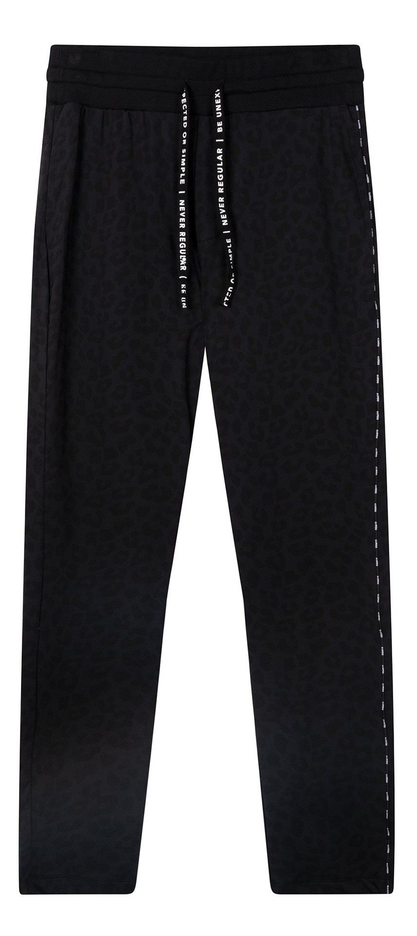 Broek banana pants leopard black-1