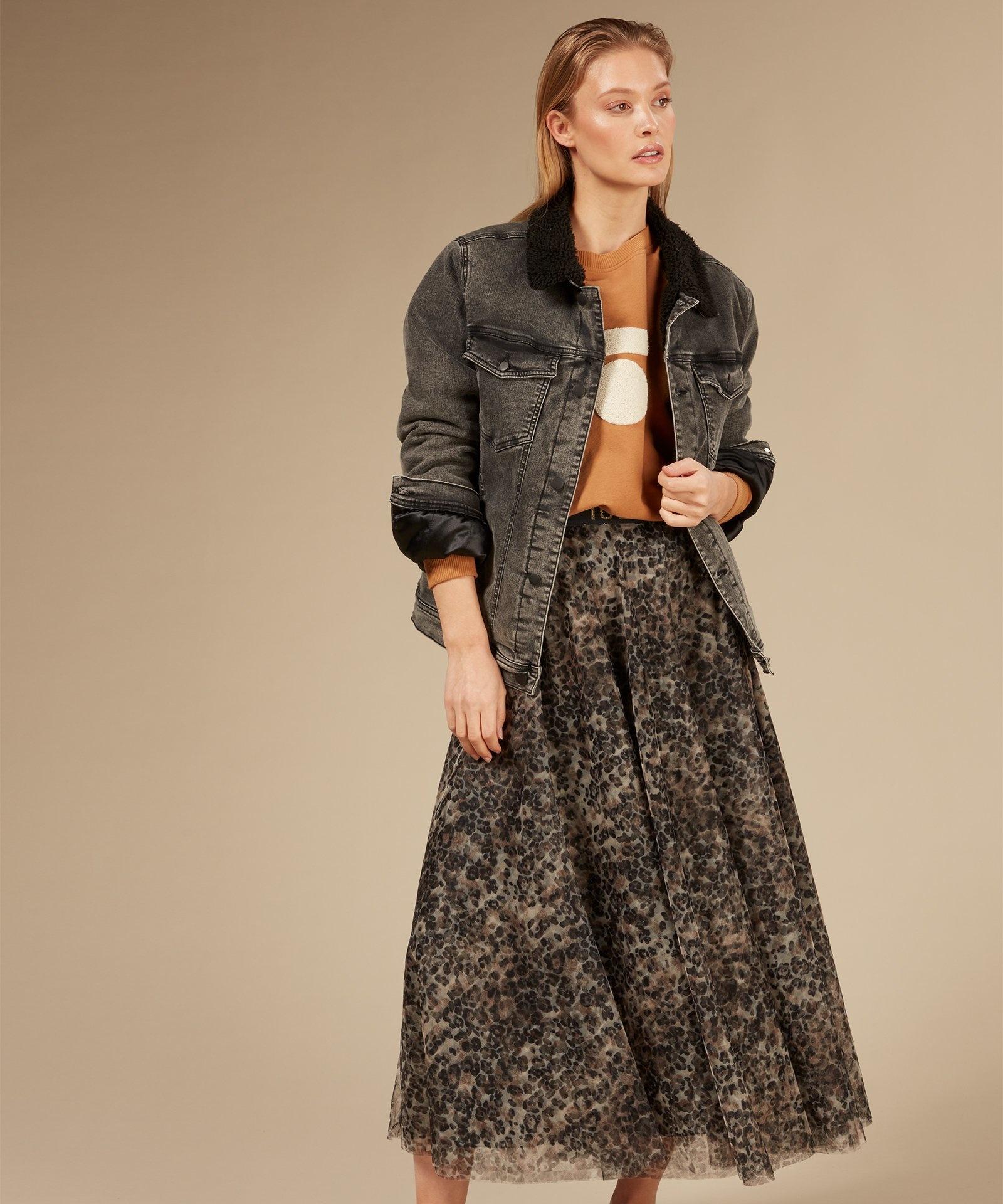 Rok tulle skirt leopard Winter White-2