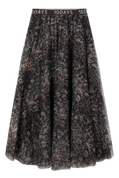 Rok tulle skirt leopard Winter White