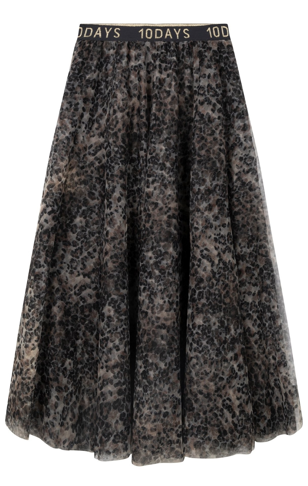 Rok tulle skirt leopard Winter White-1