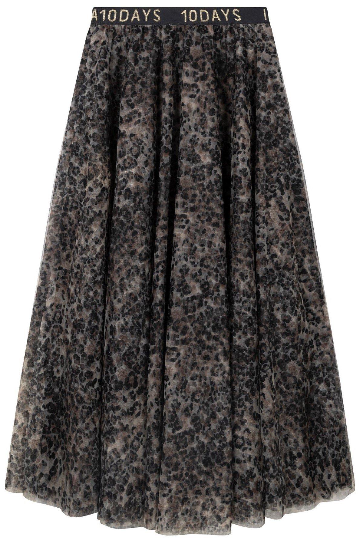 Rok tulle skirt leopard Winter White-3