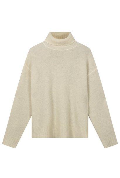 Trui reversible coll sweater ecru