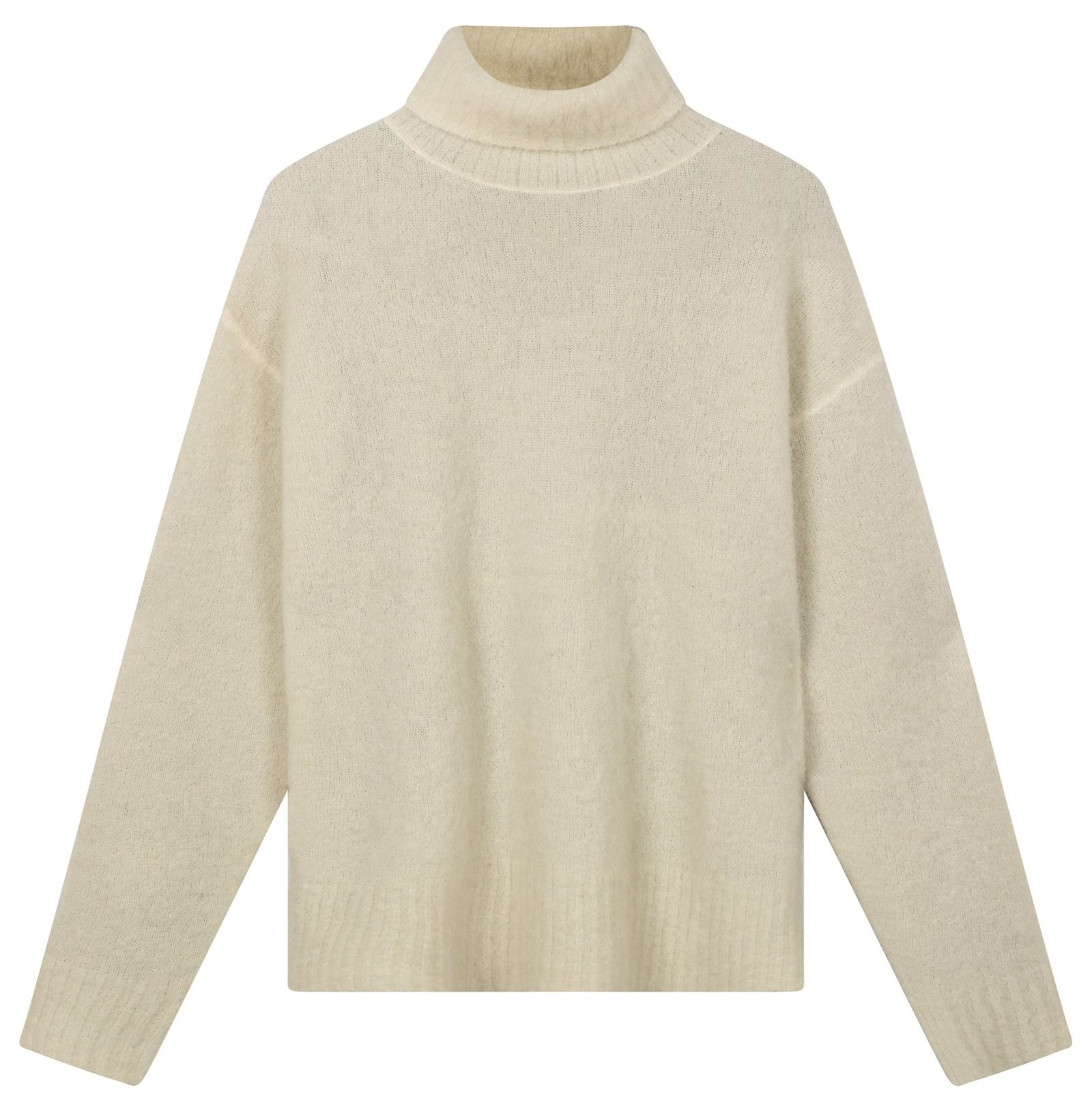Trui reversible coll sweater ecru-1