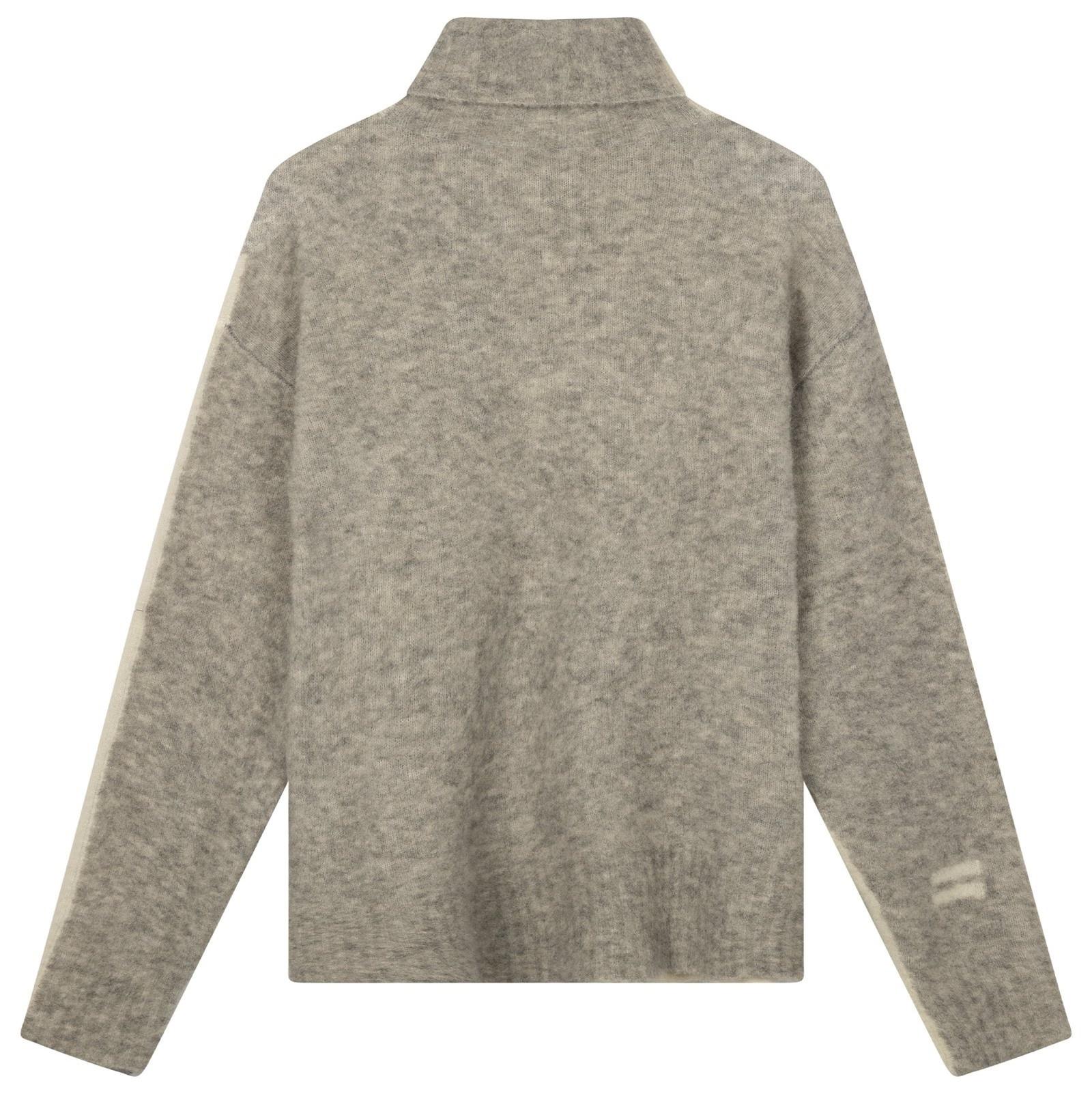 Trui reversible coll sweater ecru-2