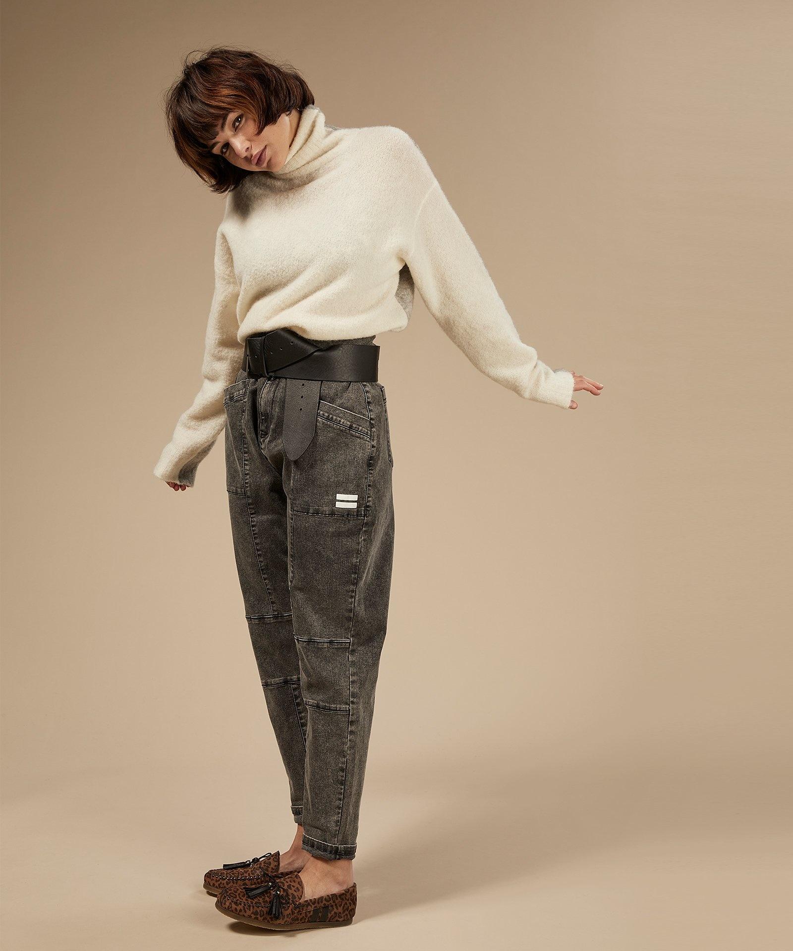 Trui reversible coll sweater ecru-3