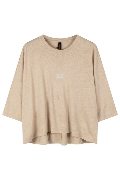 Top Linen tee safari