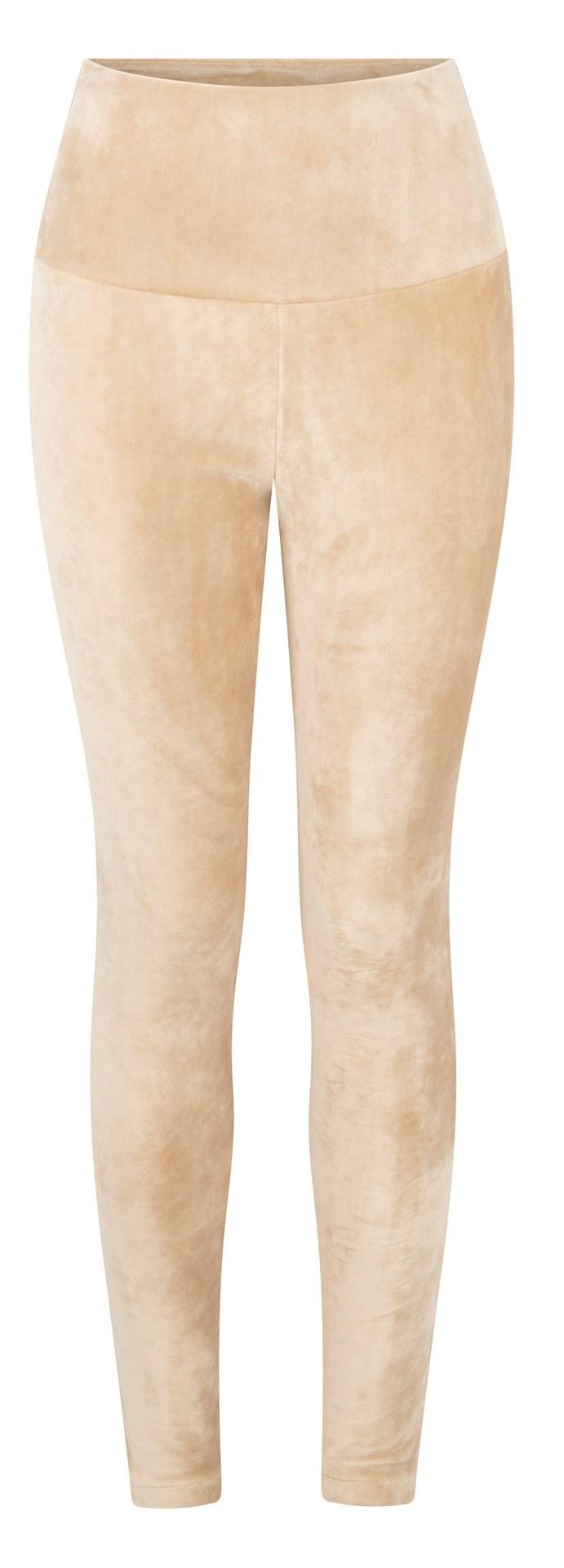 Broek legging velvet champagne-1
