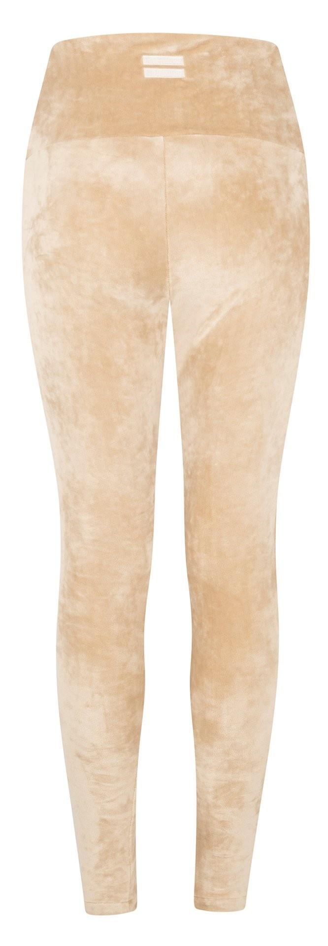 Broek legging velvet champagne-3