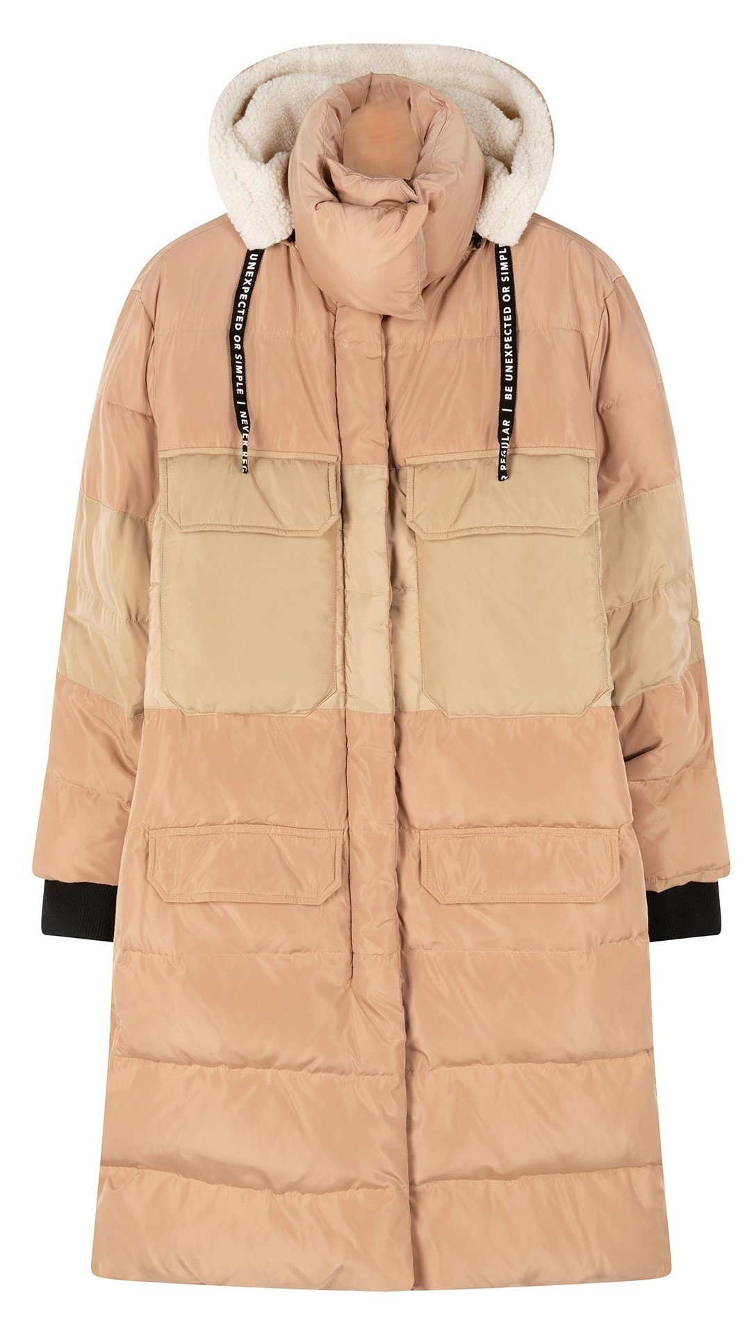 Jas down jacket panel rose gold-1