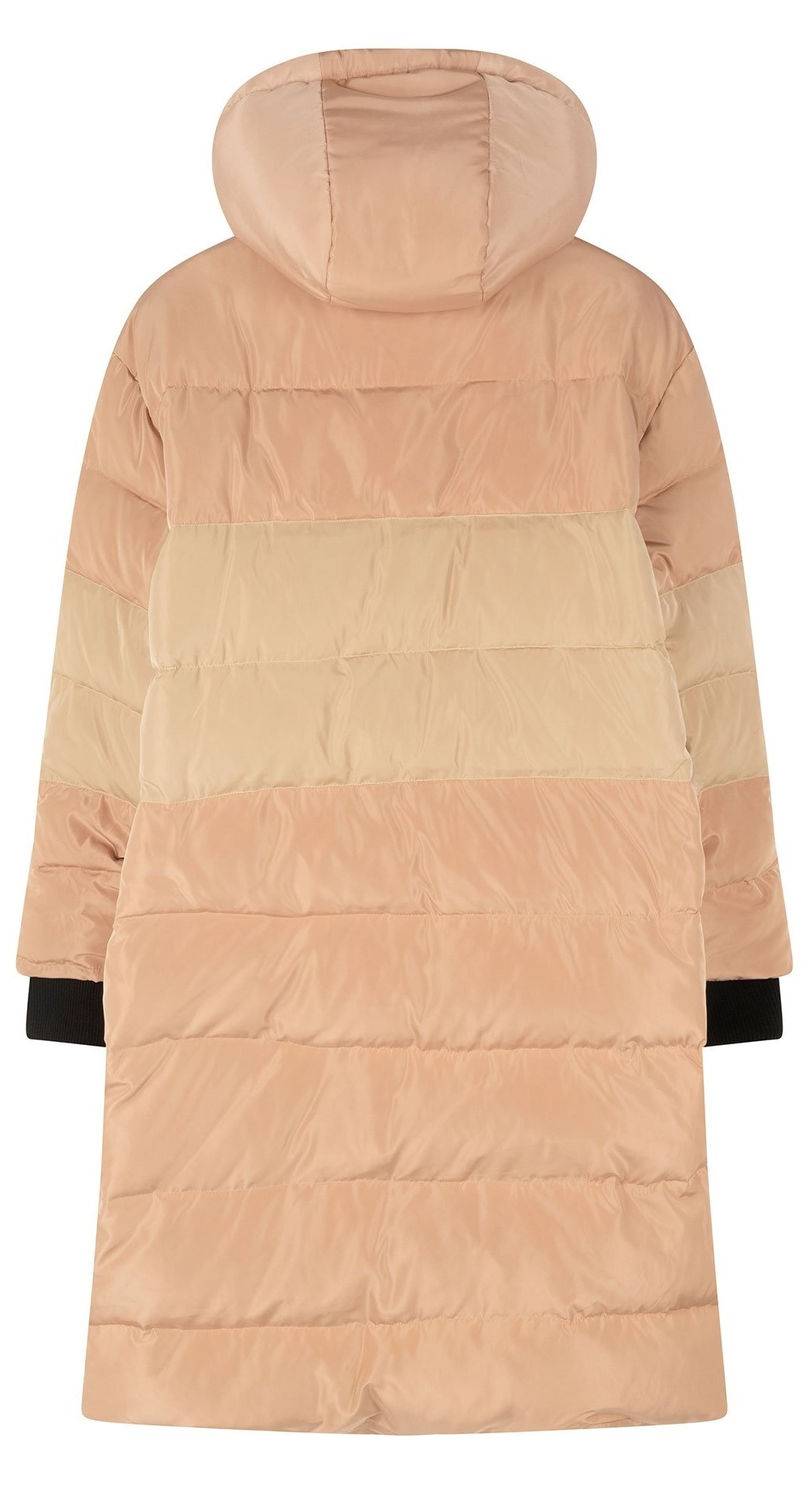 Jas down jacket panel rose gold-4