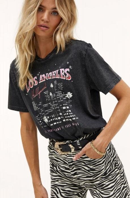 T-shirt Los angeles dark grey-3