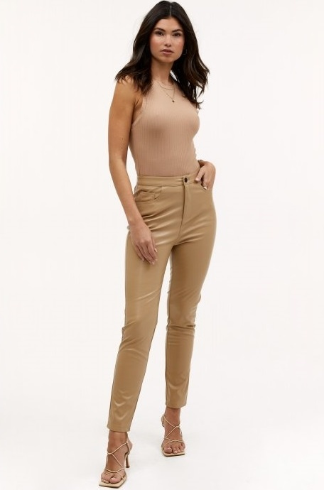 Broek In your eyes light brown-1
