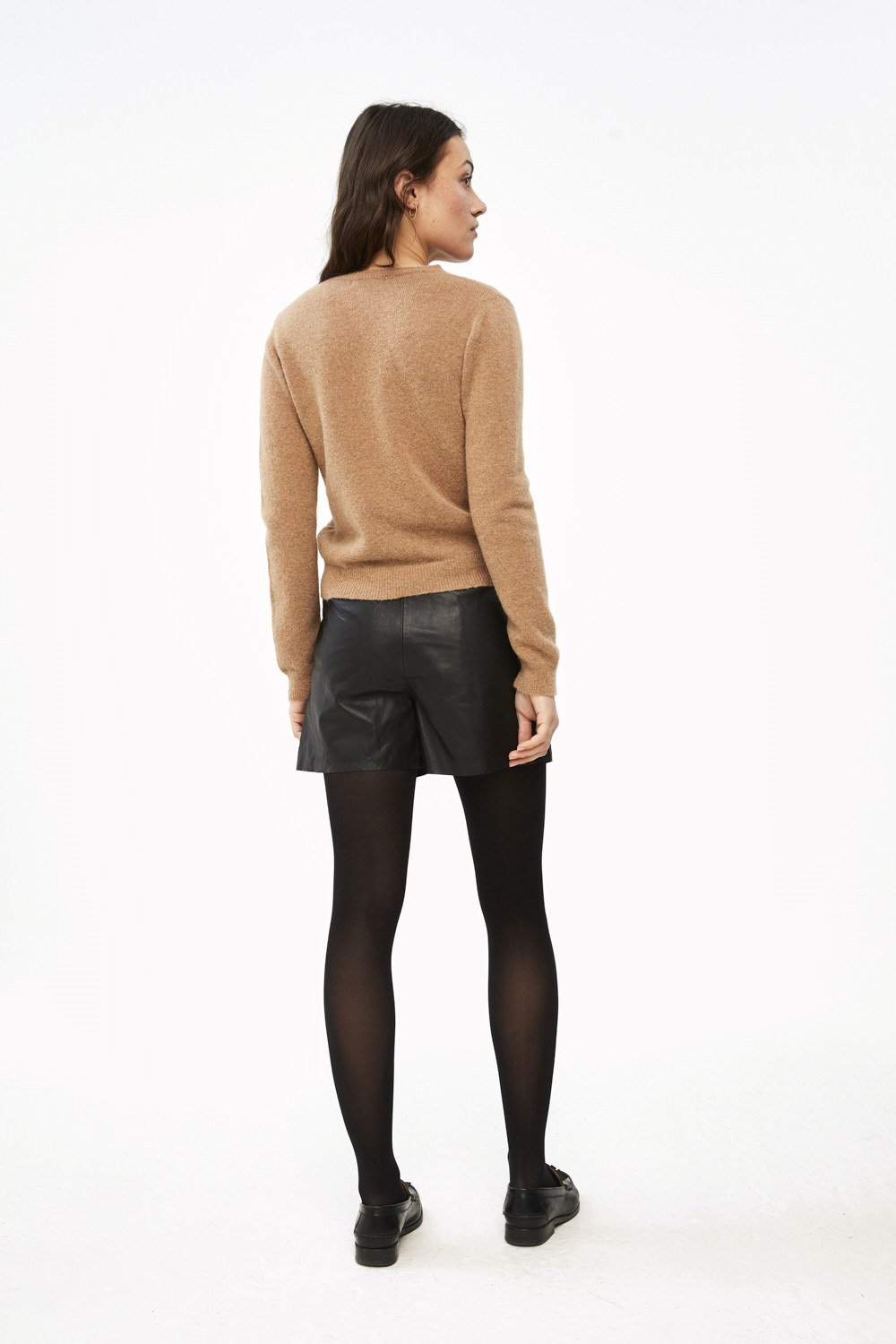Short Broek lexi leather black-3