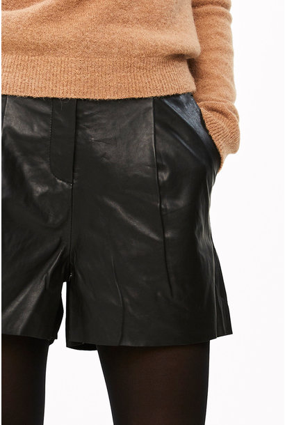 Short Broek lexi leather black