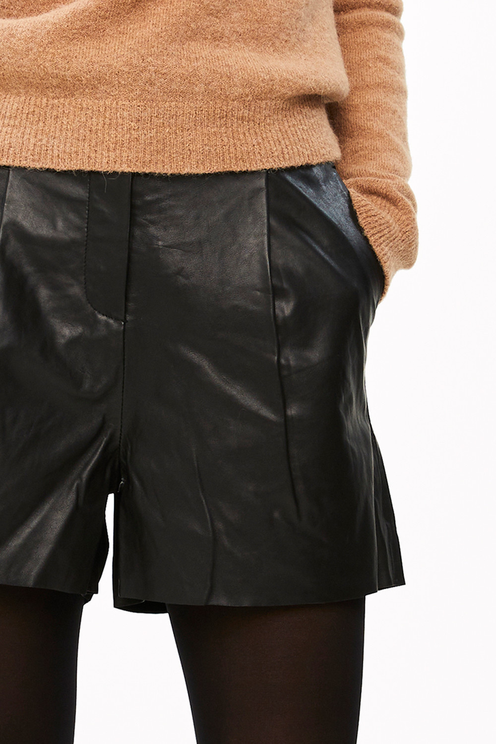 Short Broek lexi leather black-1