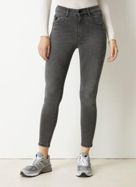 Jeans Celia power black Lengte 34 grey stone-1
