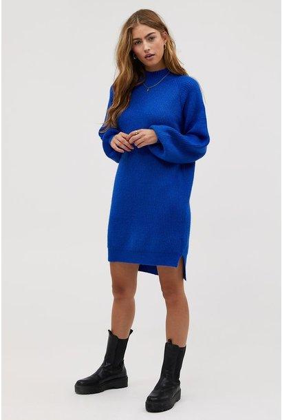 Sweater jurk I will wait blue