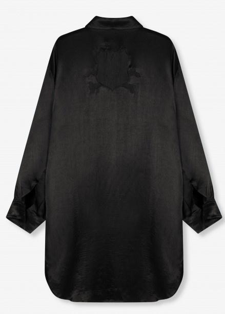 Blouse woven satin blouse black-4