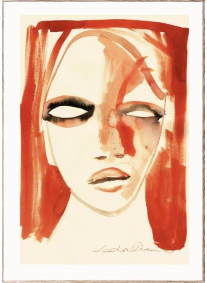 Poster Red Portrait 30x40cm