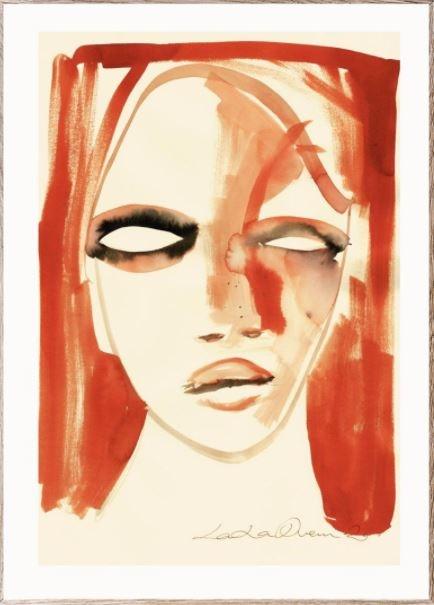 Poster Red Portrait 30x40cm-1
