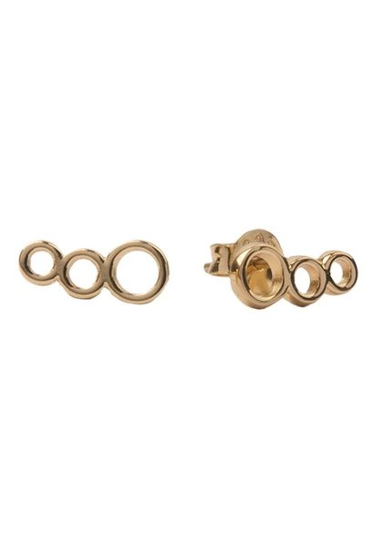 Oorring Parade Earrings Three Circles Gold PER PAAR