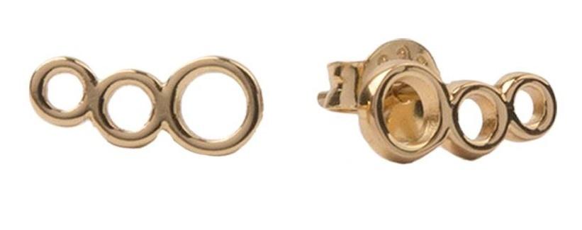 Oorring Parade Earrings Three Circles Gold PER PAAR-1