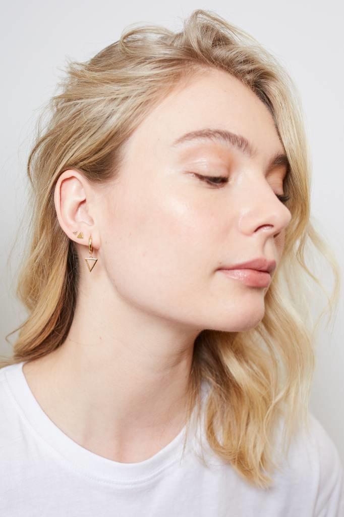 Oorring Parade Earrings Triangle Gold PER PAAR-2