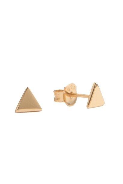 Oorring Parade Earrings Triangle Gold PER PAAR