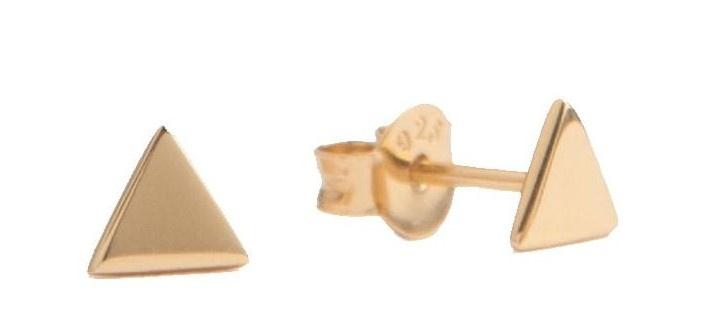 Oorring Parade Earrings Triangle Gold PER PAAR-1