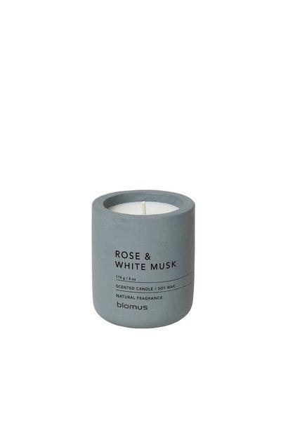 Kaars Rose & White musk Flint stone 24H 6.5cm