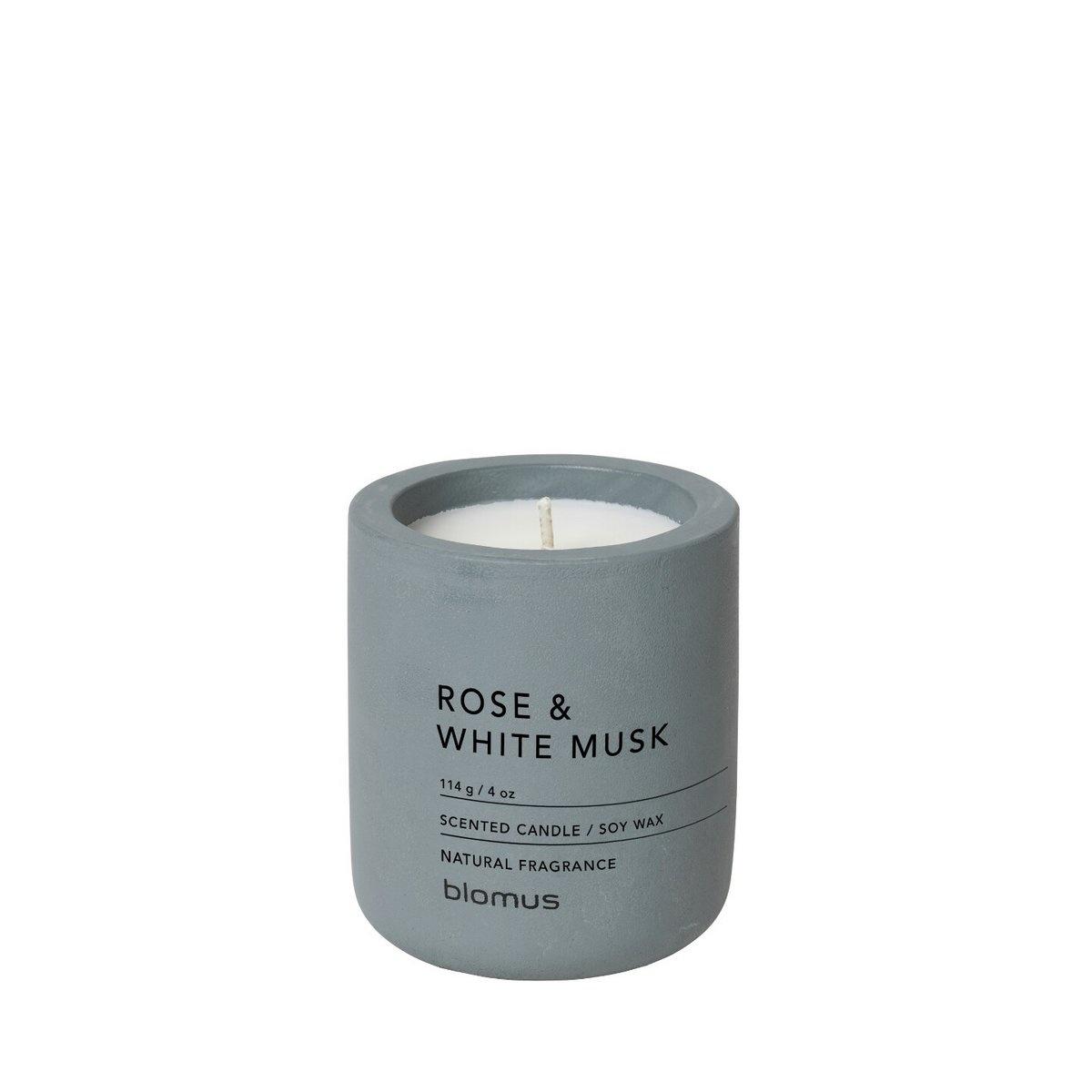 Kaars Rose & White musk Flint stone 24H 6.5cm-1