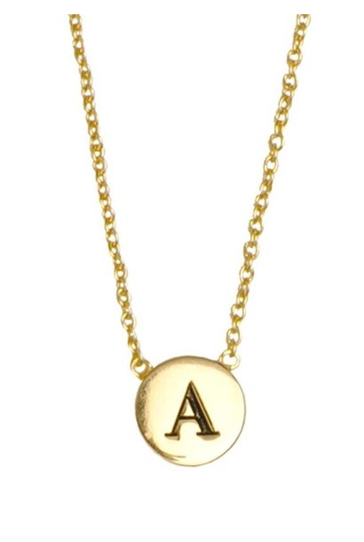 Ketting Character Necklace Letter A goud