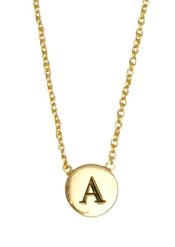 Ketting Character Necklace Letter A goud-1