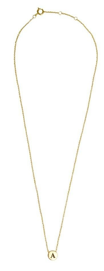 Ketting Character Necklace Letter A goud-3