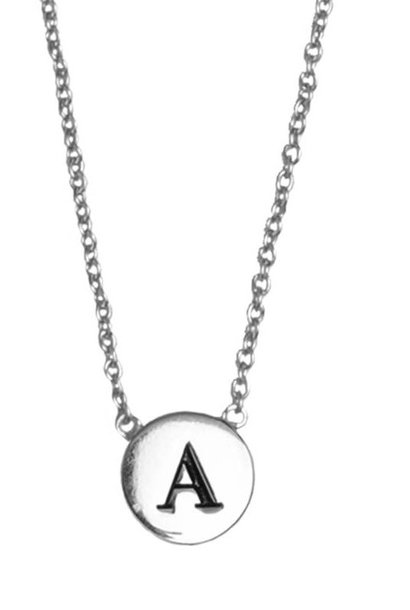 Ketting Character Necklace Letter A zilver