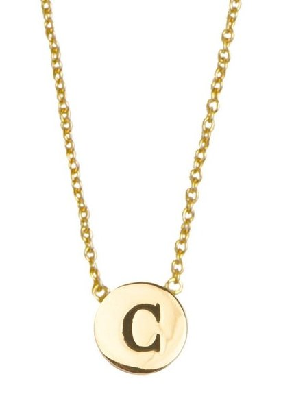 Ketting Character Necklace Letter C Gold