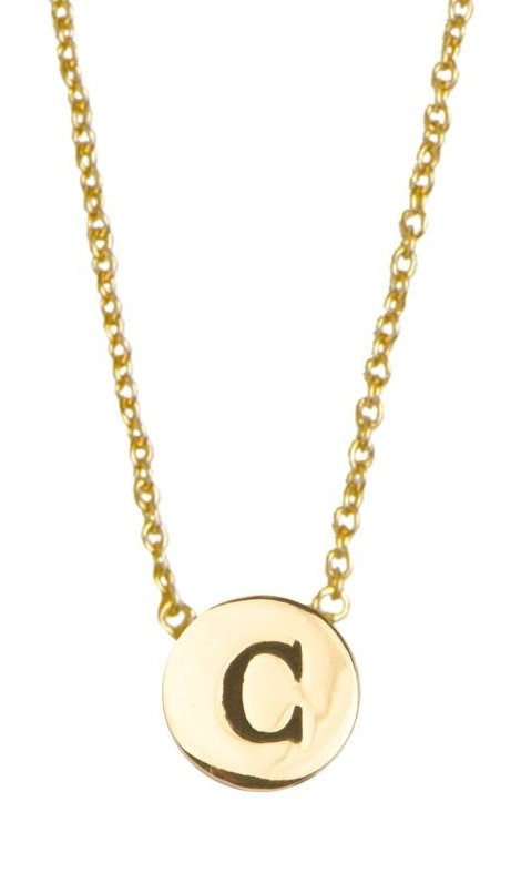 Ketting Character Necklace Letter C Gold-1