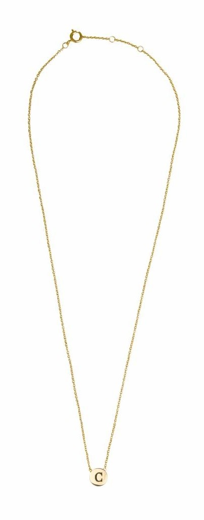 Ketting Character Necklace Letter C Gold-3