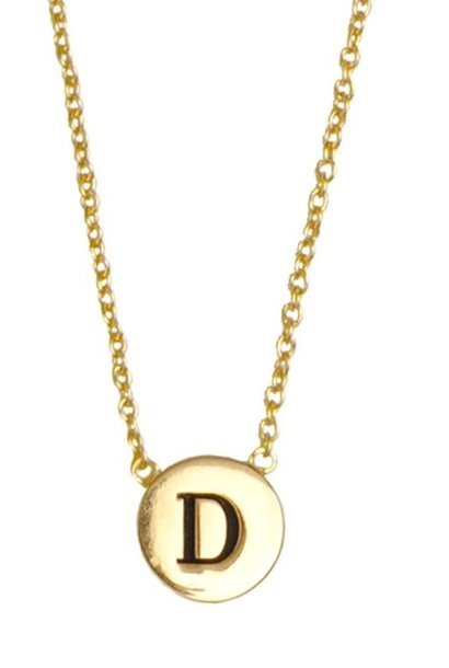 Ketting Character Necklace Letter D Gold