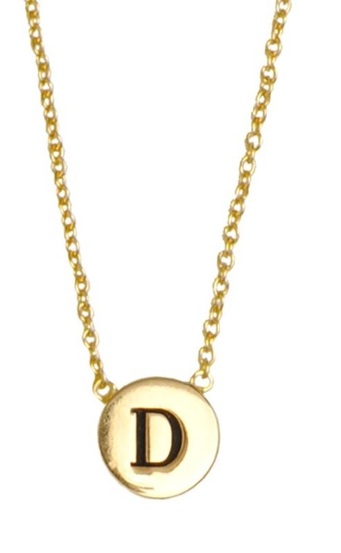 Ketting Character Necklace Letter D Gold-1