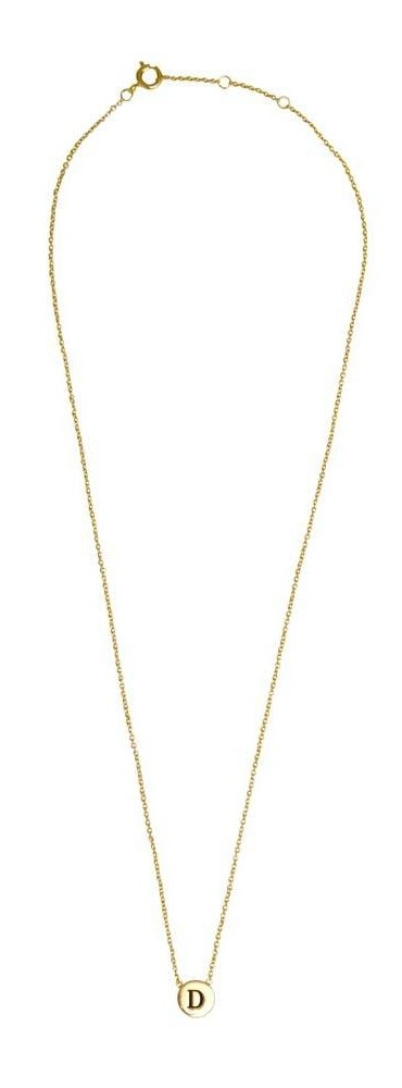 Ketting Character Necklace Letter D Gold-3