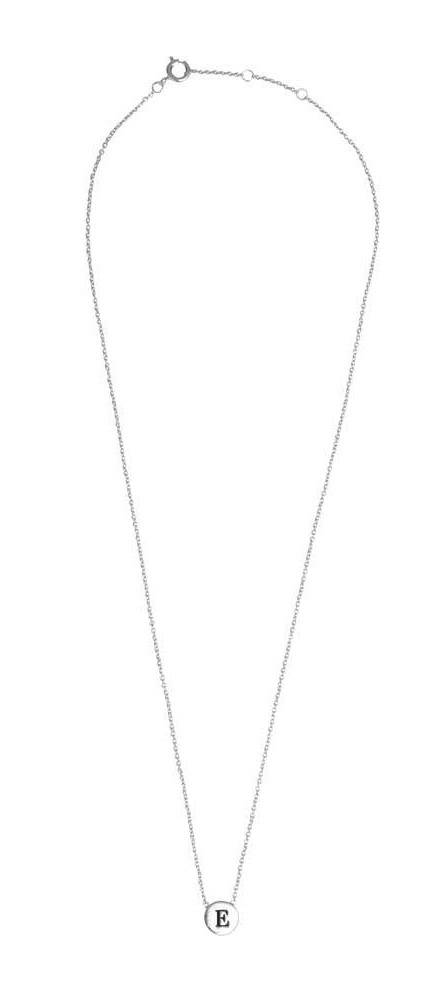 Ketting Character Necklace Letter E Silver-3