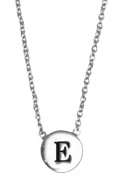 Ketting Character Necklace Letter E Silver