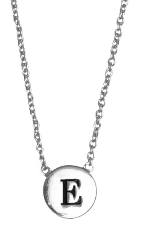 Ketting Character Necklace Letter E Silver-1
