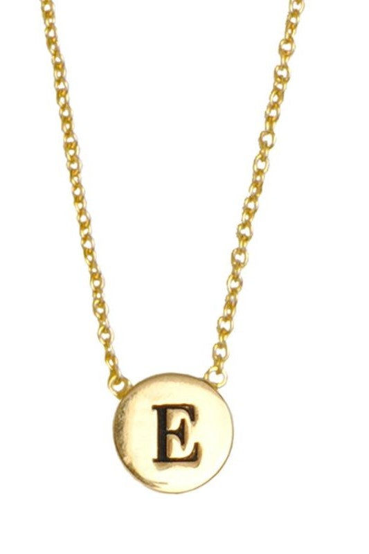Ketting Character Necklace Letter E Gold-1