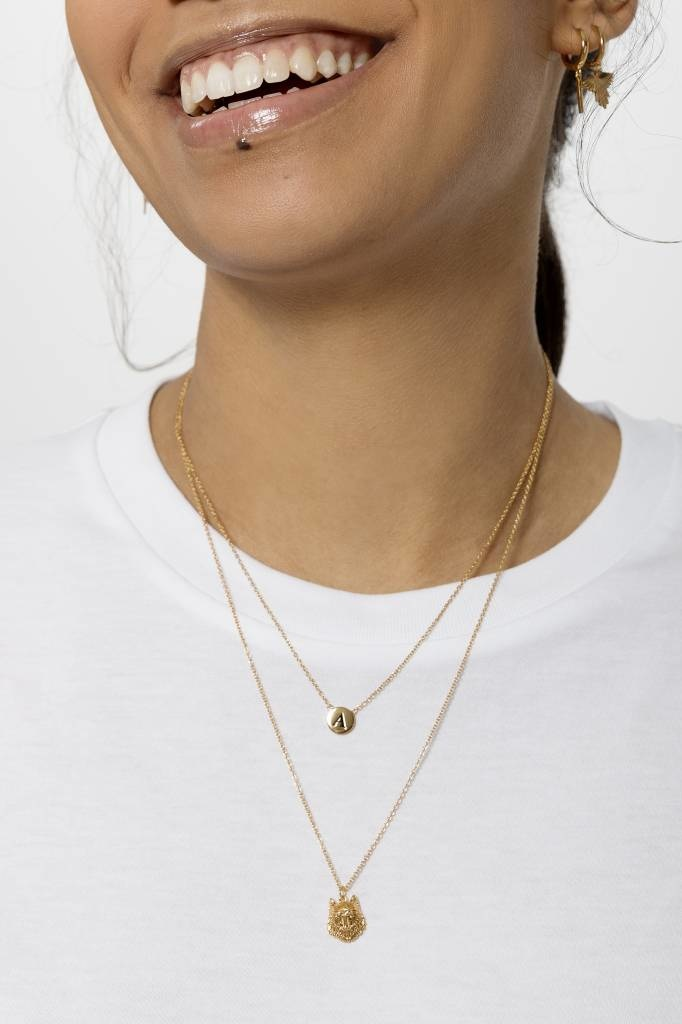 Ketting Character Necklace Letter H Gold-2