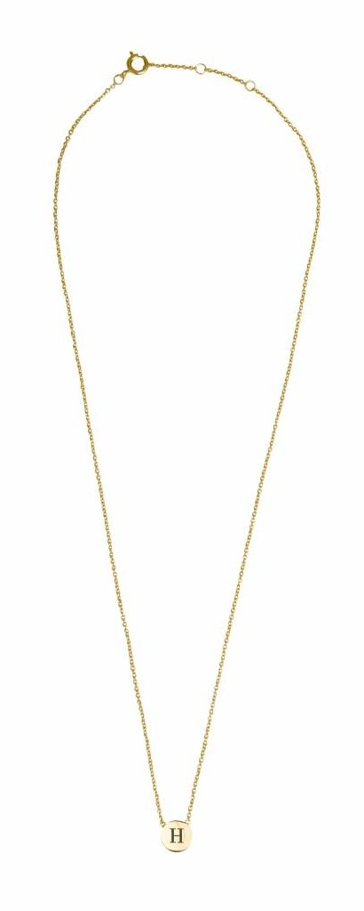 Ketting Character Necklace Letter H Gold-3